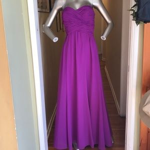 Ralph Lauren pleated floor length violet dress